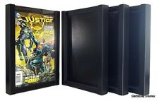 Comic Book Display Frame Case Shadow Box Black Magazine Lot Of 4 A