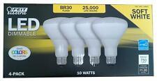 Feit BR30 Flood LED Soft White Dimmable 10 Watt 4- Pack