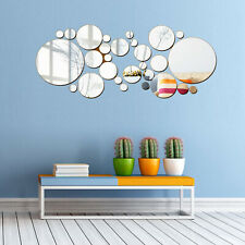 30Pcs Wall Stickers 3D Mirror Vinyl Removable Modern Home Room Decor Art Mural