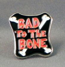 Metal Enamel Pin Badge Brooch Bad To The Bone