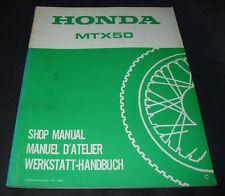 Werkstatthandbuch Nachtrag Honda MTX 50 / MTX50 Shop Manual Supplement 1982!
