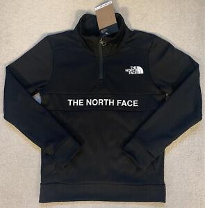 Boys The North Face 1/4 Zip Sweatshirt.100%Authentic.Black. Size M. Age 10-12