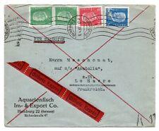 Brief Eilbote Hamburg Straßenbahn - Frankreich 1933
