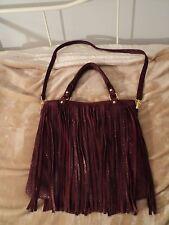 B-Low The Belt Fringe Hobo Bag, Red Wine Color, Shoulder Purse, Snap, Nice!
