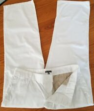 Gap Size 12 White Chinos Wide Leg Factory Distressed Button Fly Trousers Pants