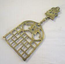 Vintage Brass Hanging Trivet - Ship / Galleon