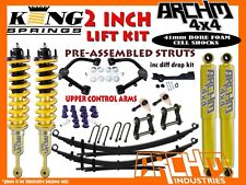 HOLDEN COLORADO RG (2012-ON) ARCHM4X4 2INCH 50mm F&R SUSPENSION LIFT KIT+DD+UCA