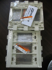 Lot of 7 New Wiremold In-Line Device Brackets (3 Gang, Ivory)