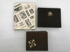 Lot Of 3 Vintage International Stamp Collection Binders Book
