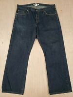 ■535 J Lindeberg 38x32 Bootcut Jeans Mens Dark Wash Button Fly