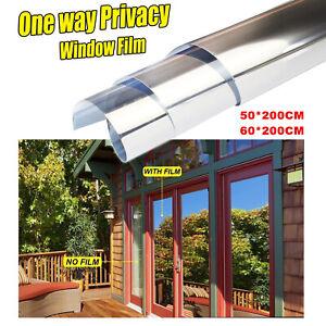 50/60*200CM One Way Mirror Window Film Home Privacy Glass Tint UV Block Office