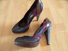 CARVELA stylische High Heels Farb- und Materialmix Gr. 39 NEUw. NB3