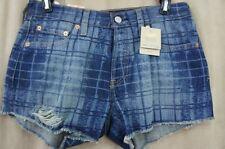 Levi's Short Juniors Shorts Sz 27 Blue Original Fit Straight Leg Button Fly Levi