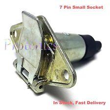 7 Pin Small Metal Socket Round Male Trailer Boat Caravan Light Connector Plug