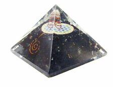 Extra Large 70-75MM Black Tourmaline Orgorne Natural Gemstone Pyramid Organit