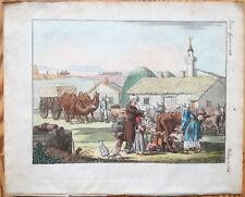 Bertuch Handcolored Print People Crimea - 1790/