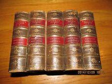 1874 WAVERLEY NOVELS POCKET EDITION LEATHER Sir Walter Scott A. & C. BLACK 5 VOL