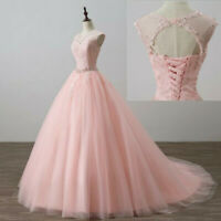 Sweet 16 Prom Dress Applique Quinceanera Dresses Ball Gown Formal Evening Gowns