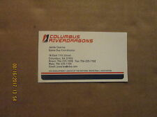 NBDL Columbus RiverDragons Vintage Defunct Logo Basketball Business Card