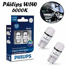2x Philips W5W T10 12V 127996000KX2 X-treme 6000K Cold White Auto Interior Lampe