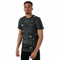 Mens adidas Originals Sophisti T-Shirt In Black- Short Sleeve- Ribbed Collar-
