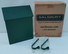 NEW - Salsbury Traditional Green Steel METAL Mailbox Standard Vertical Style USA