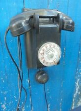 ancien TELEPHONE MURAL Bakélite Noir