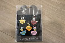 Disney Trading Pins Lot of 5 Named Heart Set Mickey Mouse Minnie Donald Pluto