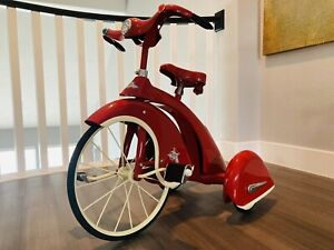 """Vintage Sky King Tricycle AFC Airflow Repro 16"""" Front Wheel - Red -VERY RARE!!!!"""