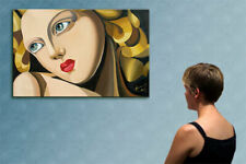 """31"""" - REMEMBER LEMPICKA  - original  painting oil on canvas by ANNA !!!"""