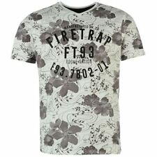 Firetrap Cotton V Neck Regular Size T-Shirts for Men