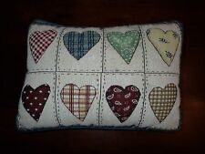 Country Patchwork Heart Tapestry Pillow Cotton Fabric