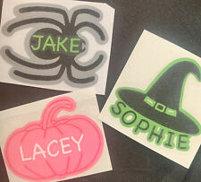 X3 Halloween Personalised Vinyl Decal Labels For Glass Sticker Bottle Etc