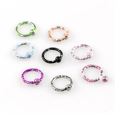Ear Lip Nose Septum Body Piercing 8Pcs Seamless Hinged Segment Sleeper Ring Hoop