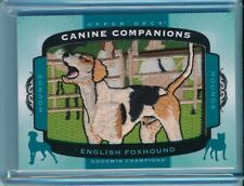2017 Upper Deck Goodwin Canine Companions #82 English Foxhound