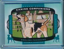 2017 Upper Deck Goodwin Canine Companions #82 ENGLISH FOXHOUND