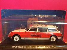SUPERBE CITROEN ID 19 BREAK RADIO TELE LUXEMBOURG 1963 NEUF SOUS BLISTER 1/43 F3
