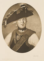 Porträt Friedrich Wilhelm von Seydlitz (1721-1773), Preußischer General, Litho.