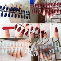 24Pcs Matte Fake Nails Full Cover Detachable Nail Tips s False Nail