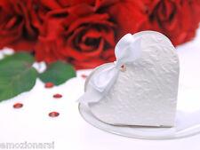 100 scatoline porta confetti bomboniera MATRIMONIO cuore bianco bomboniere