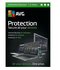 AVG Protection 2016 Unlimited Devices 2-Year Subscription - Free Upgrade