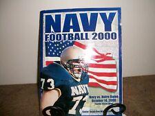 Notre Dame vs. Navy Football Program October 2000