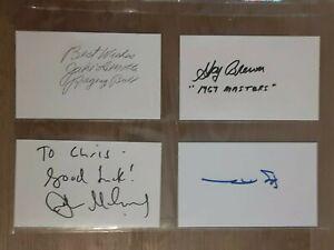 JOHN MCENROE TENNIS HOF LEGEND SIGNED AUTOGRAPHED INDEX CARD 3X5 **VERY RARE**