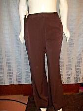 "New Size 16 Kim Rogers brown W/side pockets dress pants Waist 36"" X Inseam 32"""