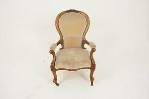 Antique Victorian Chair, Walnut, Gentlemen's Parlour Chair, Scotland 1870, B2700