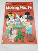 1952 DELL COMIC WALT DISNEY'S MICKEY MOUSE AND THE SMUGGLED DIAMONDS #362