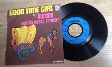 "French 7"" Michaj BURANO and his Gypsy Caravan Good time girl disco funk 1973 EXC"