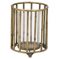 Handcrafted Metallic Bamboo Candle Lantern : Height : 22cm