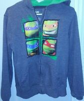 Boys TMNT Ninja Turtles Size Large Fleece Full Zip Hoodie