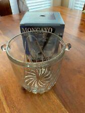 Moncayo Verecovetro Mini Ice Bucket 5x5 with Tongs, Made in Italy (MF)